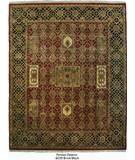 RugStudio presents ORG Persian Classics Gc39 Brick Red / Black Hand-Knotted, Best Quality Area Rug